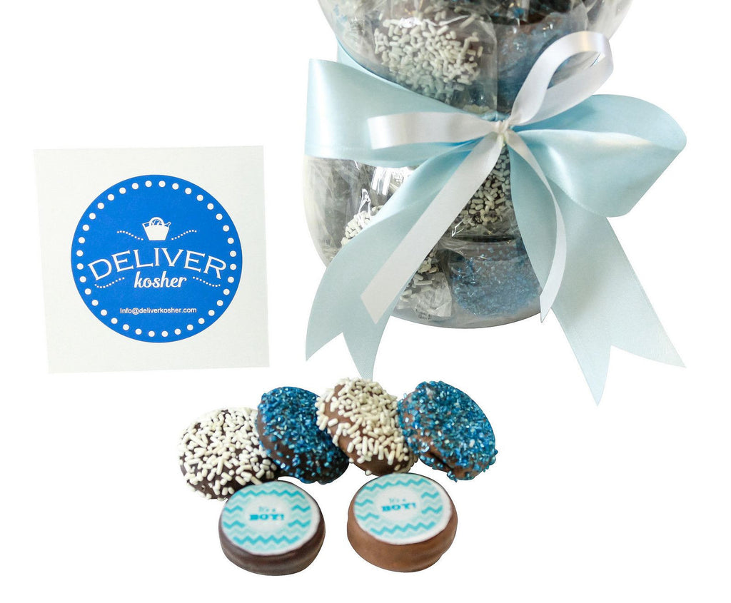 Gourmet Chocolate Covered Cookie Baby Bottle - Baby Boy - Assorted ...