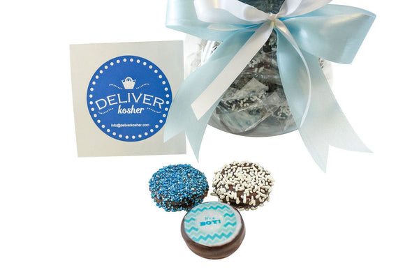 Gourmet Chocolate Covered Cookie Baby Bottle - Baby Boy - Dark Chocolate