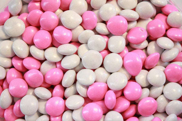 Bulk Candy - White & Pink Chocolate Lentils