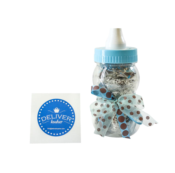Gourmet Chocolate Covered Pretzel Baby Bottle - Baby Boy - Assorted Chocolate