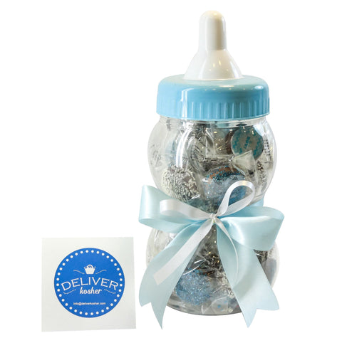 Gourmet Chocolate Covered Cookie Baby Bottle - Baby Boy - Milk Chocolate