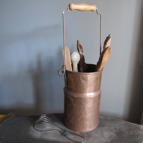 Copper Kitchen Utensil Holder