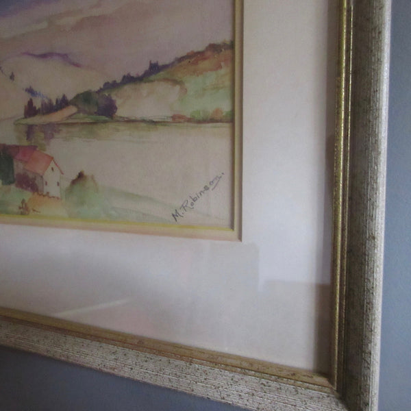 Vintage Watercolour Painting Ontario