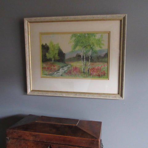 Vintage Water Colour Rural Ontario