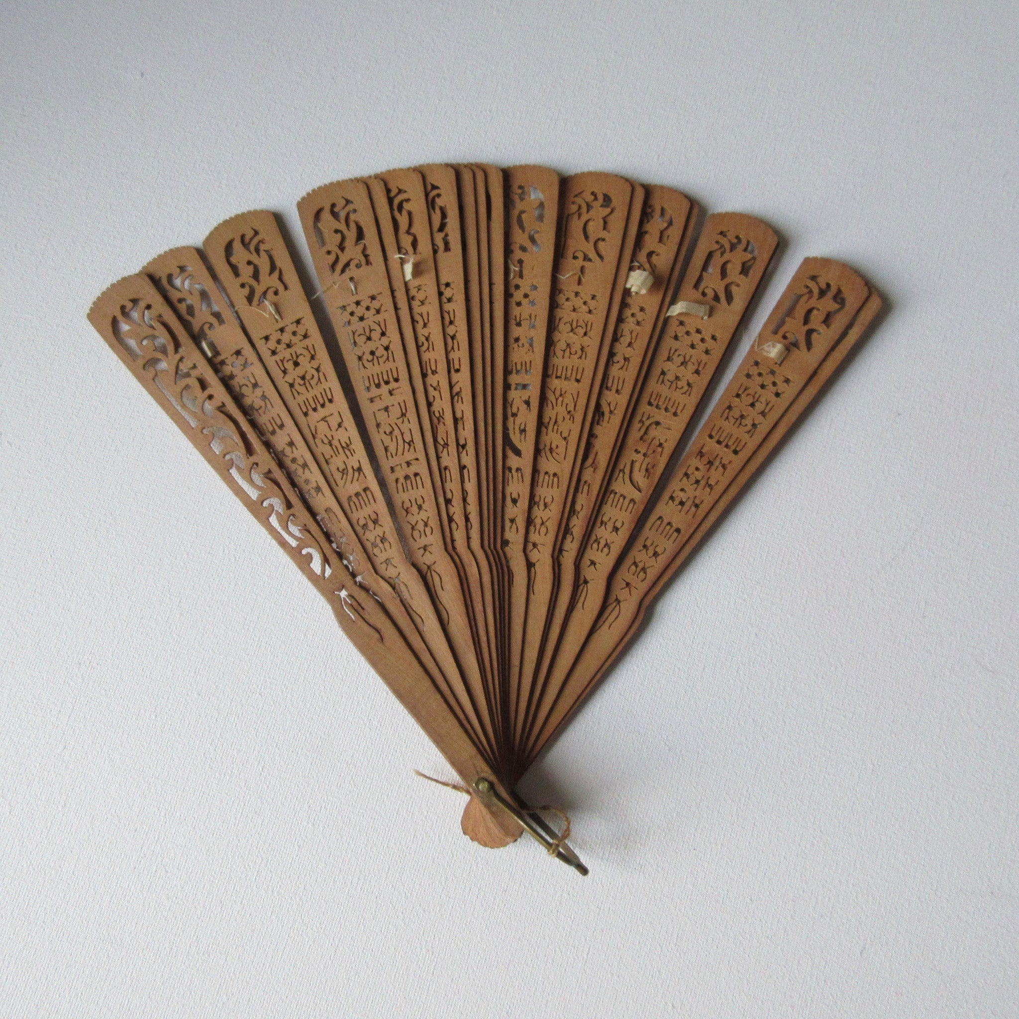 Antique Chinese sandalwood fan