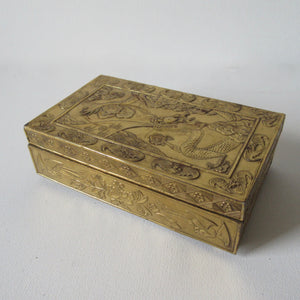 Brass Box Early 20th Century Wood Lined