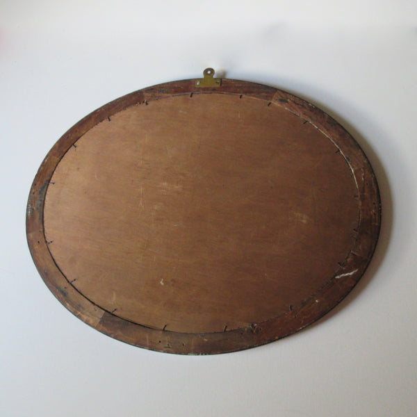 Edwardian Oval Inlaid Mirror