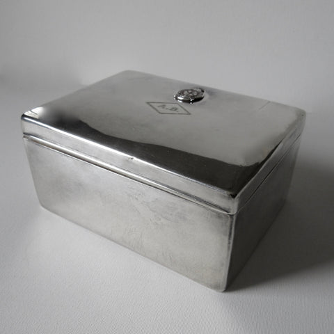 Silver Plate Jewelry Storage Box