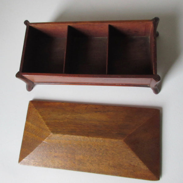 Wooden Lidded Box