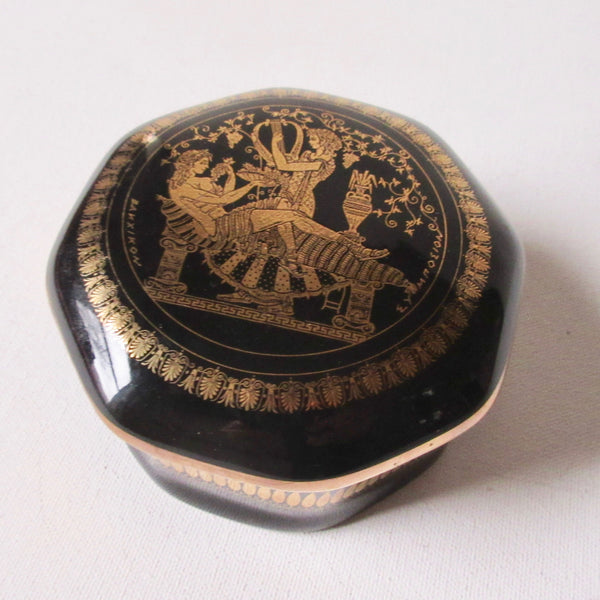Black Porcelain Lidded Dish