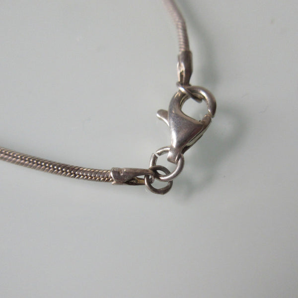 Contemporary Pendant on Sterling Silver Chain 16""