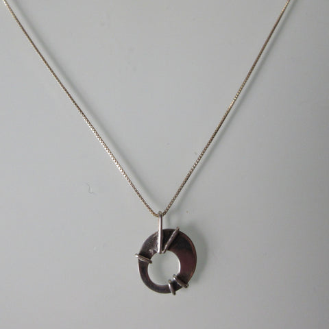Contemporary Pendant on new Sterling Silver Chain 18""