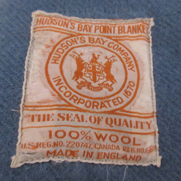 Vintage Wool Point Blanket Blue