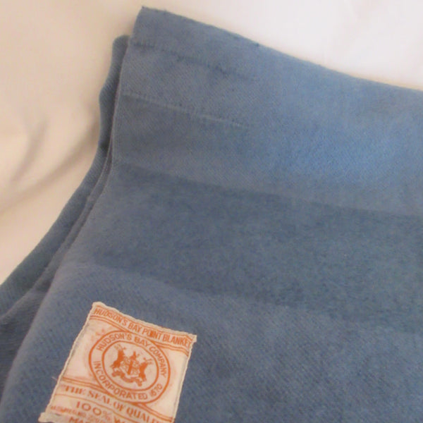 Vintage Wool Blanket Blue