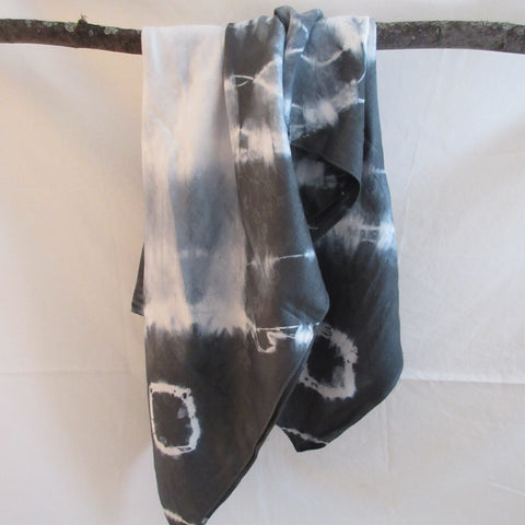Vintage Shibori Dyed Table Cloth Irish Linen