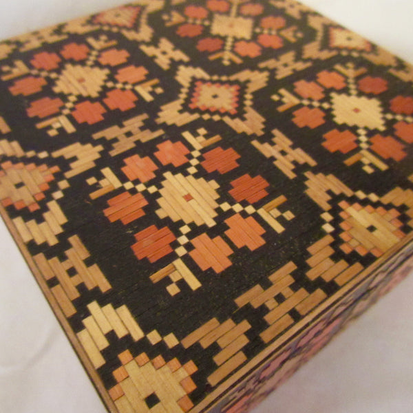 Russian Folk Art Straw Box