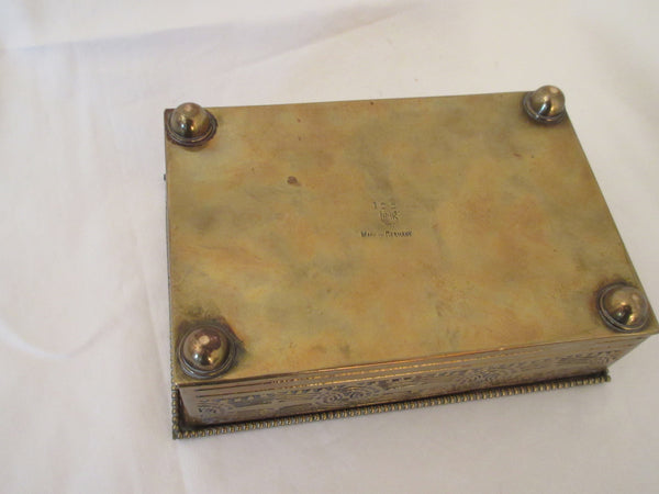 Brass Box Arts and Crafts Antique New Munich