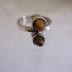 Midcentury Modern Finnish Sterling Silver Tigers Eye Ring