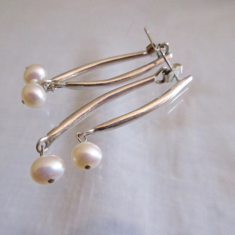 Earings Sterling Silver Fresh Water Pearl Birks