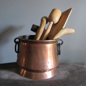 Copper Pot Utensil Container