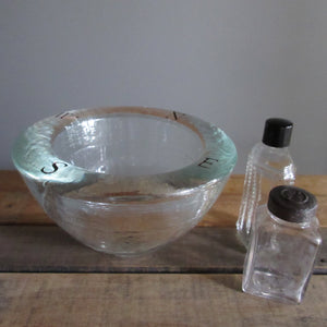 Signed Glass Bowl Jeff Goodman