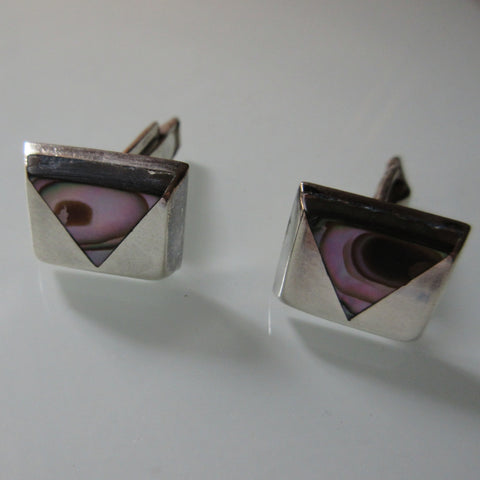 Silver Mother of Pearl Cuff Links
