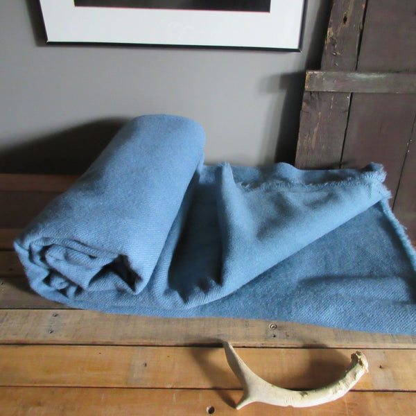 Vintage Hudson's Bay Wool Point Blanket Blue