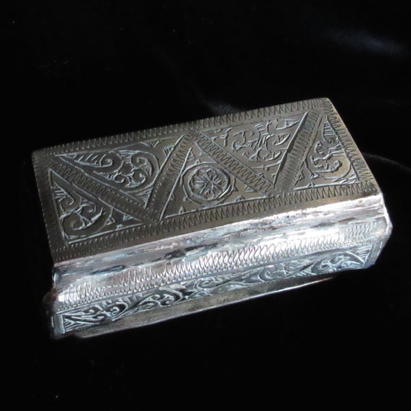Chasing and Incised Spice box