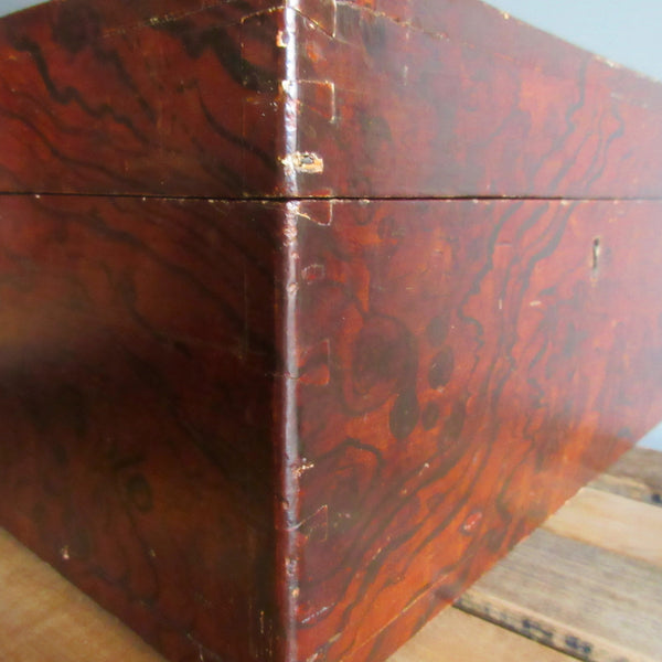 19th Century Box with Putty Grain Paint