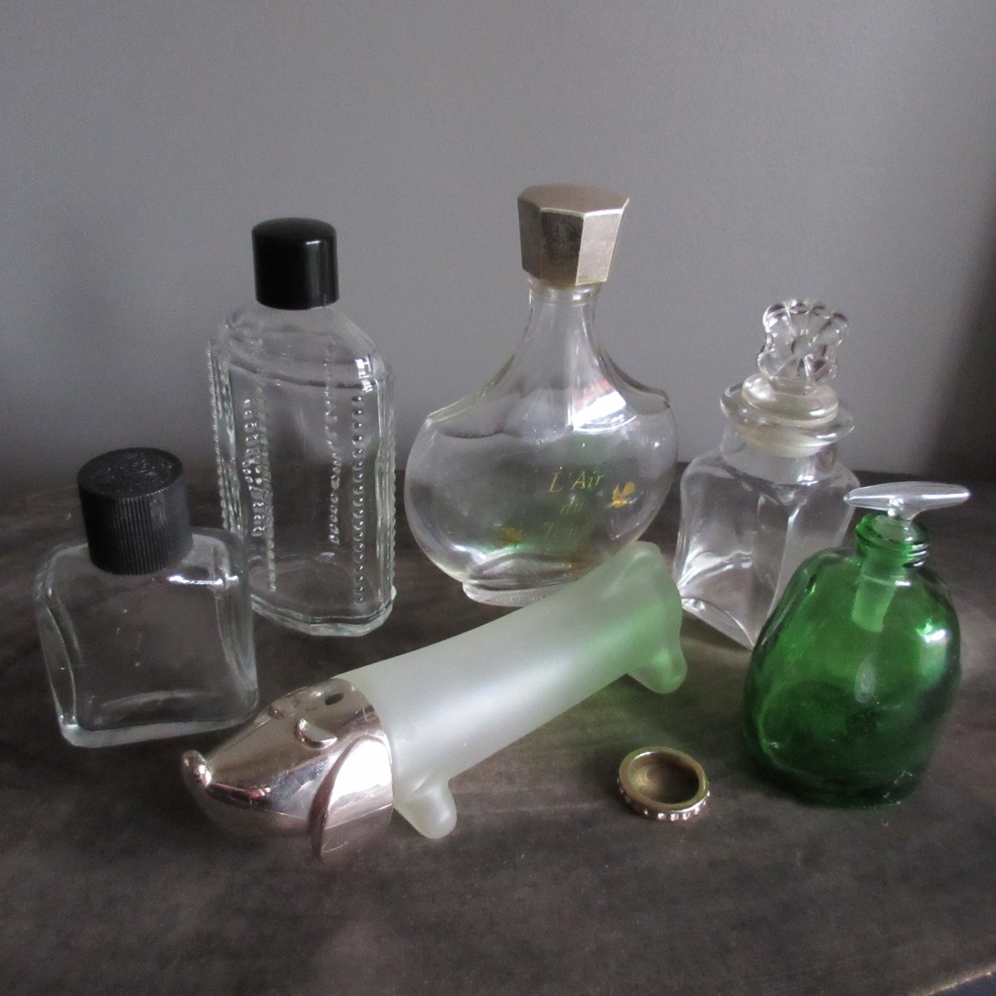 Vintage Glass Bottle Collection Perfume and Extracts