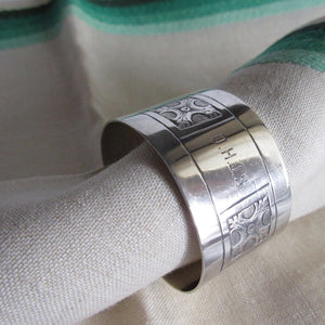 British Sterling Antique Napkin Ring Original Box