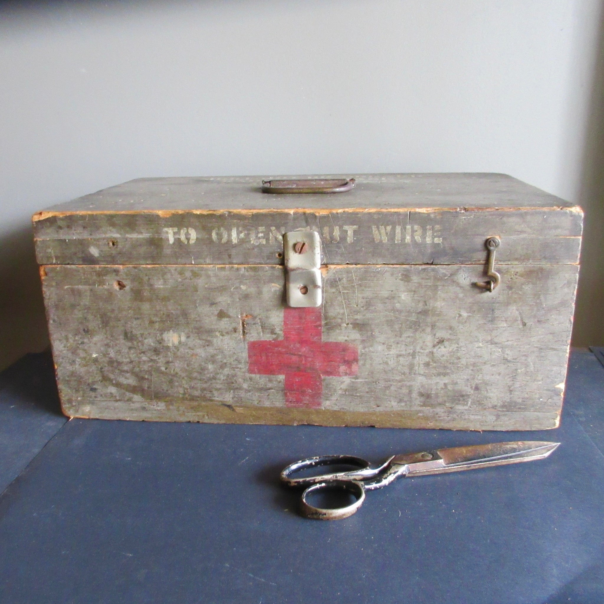 Military issue wooden Storage box