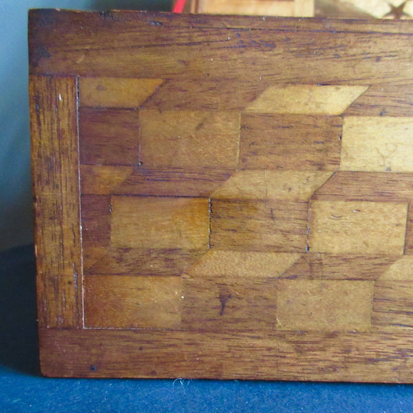 Inlaid Marquetry Wooden Box