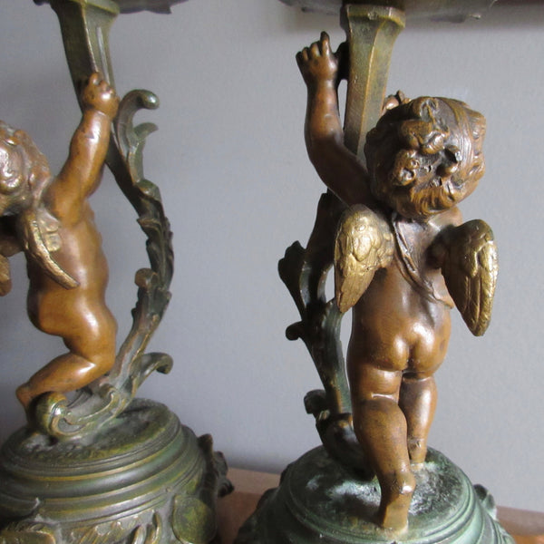 French Cherub Candle Sticks