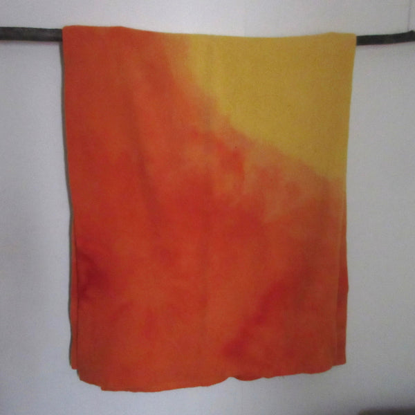 Vintage Over dyed Wool Blanket Yellow ~Orange