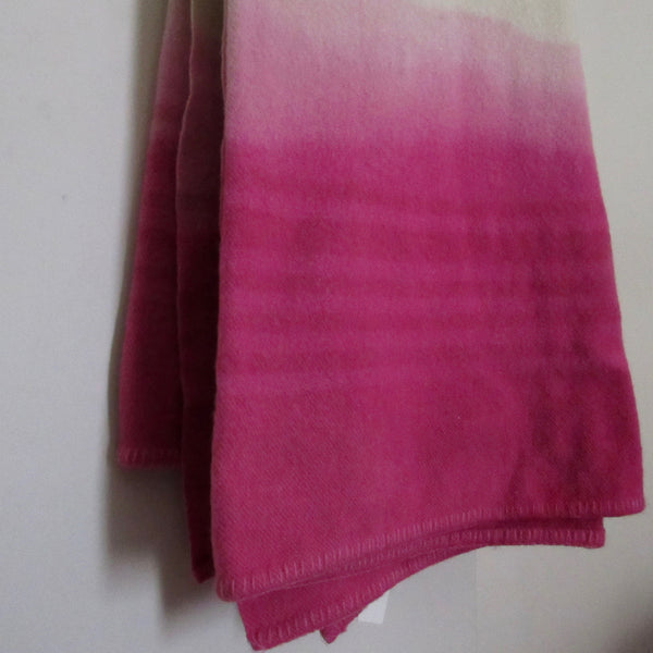 Vintage Dip Dyed Wool Blanket - Pinkish