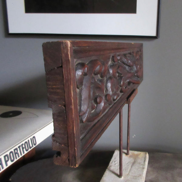 French Carved Drawer Panel on Stand