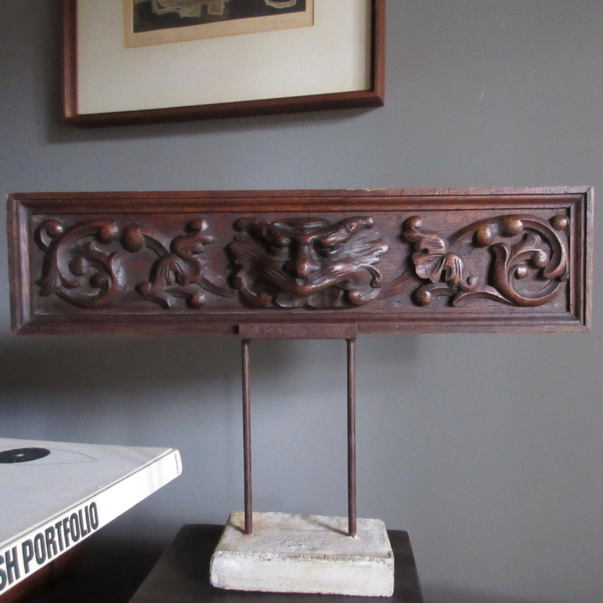 French carved panel