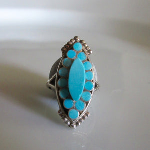 Navajo Silver Turquoise Ring