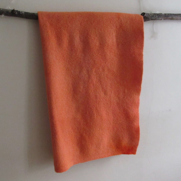 Vintage Over Dyed Wool Blanket - Orange