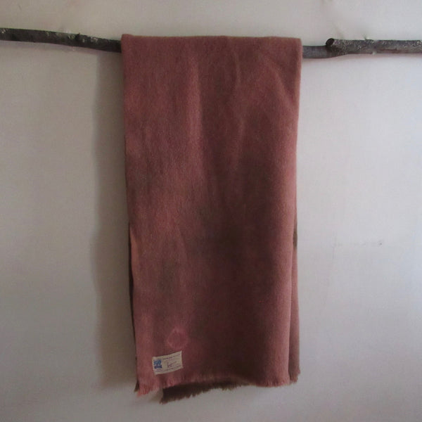 Over Dyed Vintage Wool Blanket Copper