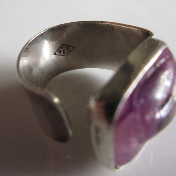 Amethyst Uncut and Sterling Ring