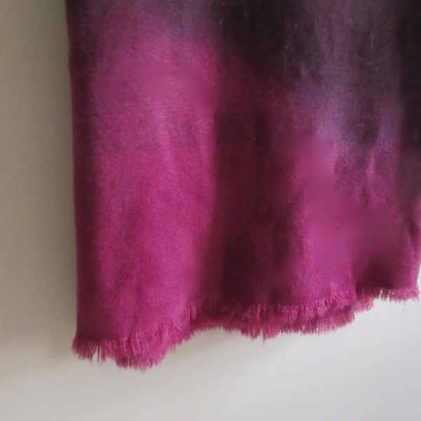 Vintage Over Dyed Wool Blanket - Wine