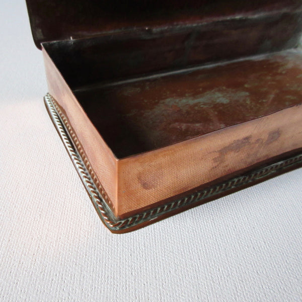 Mid Century Hammered Copper Box