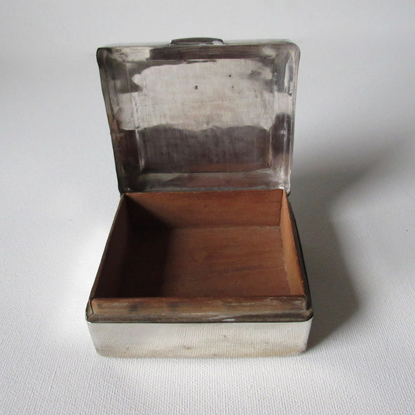 Sterling Silver Wood Lined Box William Neil & Sons