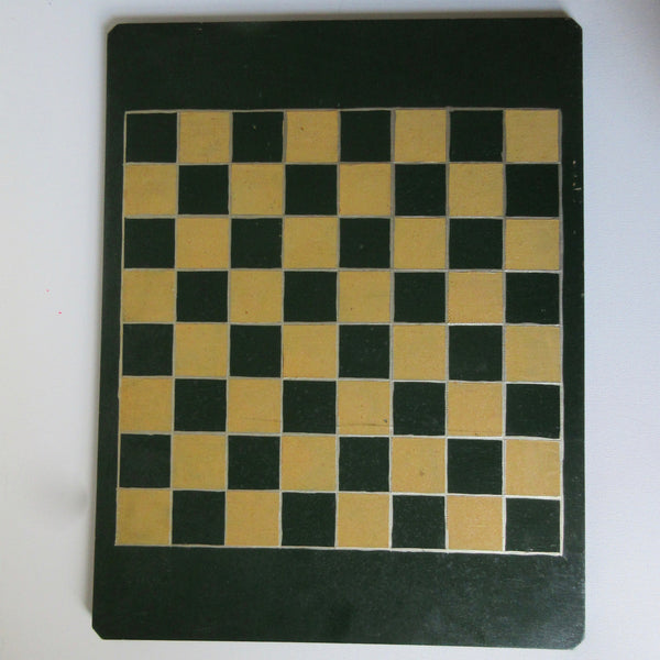 "Chess Set and Board Antique Weighted ""Staunton"""