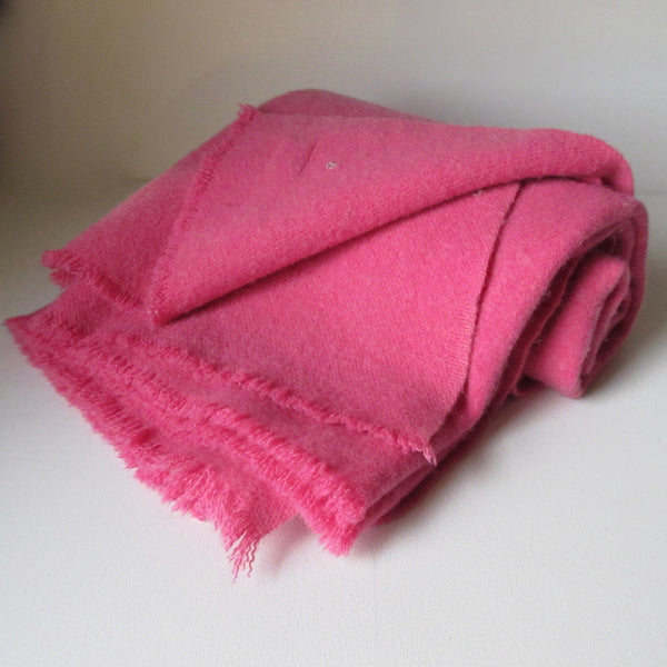 Vintage Visable Mended Wool Blanket - Pink