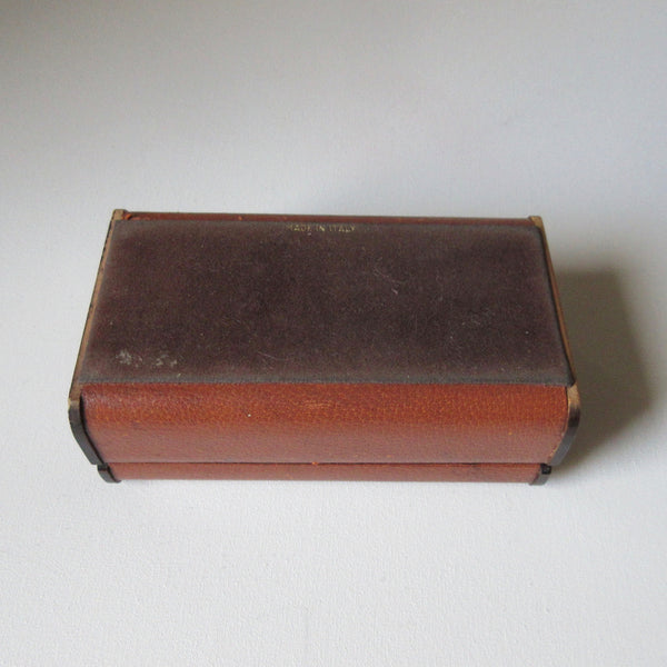Vintage Leather and Wood Jewelry Box