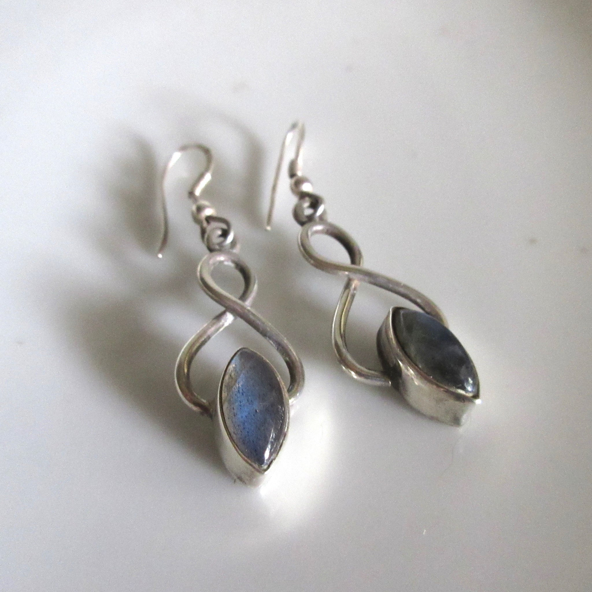 Silver and moonstone earings