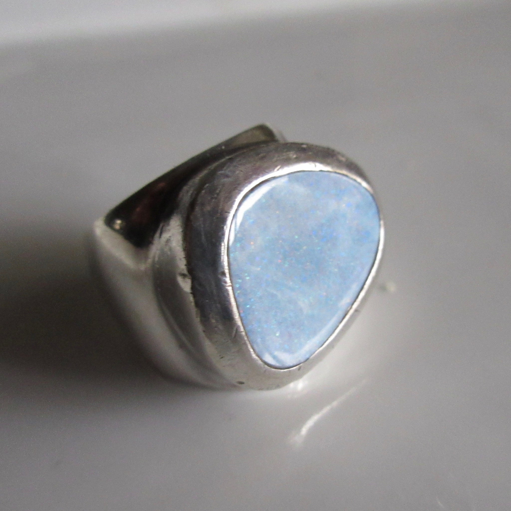 Vintage Opal & Sterling Silver ring